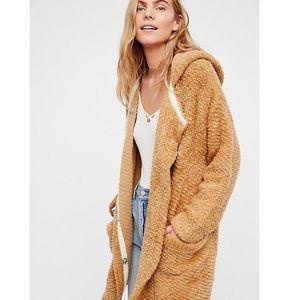 Warm Wishes Free People Sweater Jacket Sand